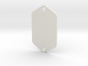 Jaguar Plate - Blank in White Natural Versatile Plastic