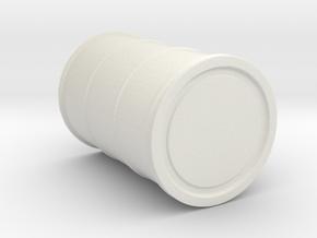 Drum, 55 Gallon, Standard Accessory in White Natural Versatile Plastic: 1:32