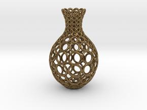 Gradient Ring Vase in Polished Bronze