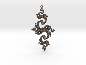 Julia Pendant 1 HP0 in Polished Bronzed Silver Steel