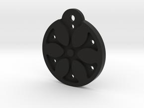 Flower Necklace - Part 1 - Plastic in Black Natural Versatile Plastic