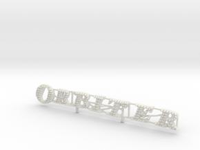 Tivoli Orbiter Carnival Ride Sign 1/87th HO Scale  in White Natural Versatile Plastic