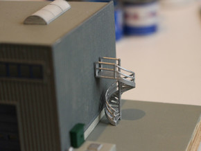 N Scale Fire Escape 1 in Smooth Fine Detail Plastic