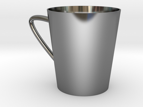 coffee cup in Fine Detail Polished Silver