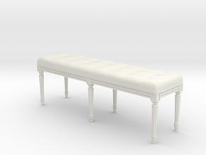 Louis XVI Bench in White Strong & Flexible: 1:24