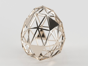 Egg of Wires in 14k Rose Gold Plated Brass