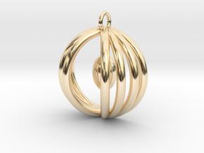 Half sphere pendant in 14k Gold Plated Brass