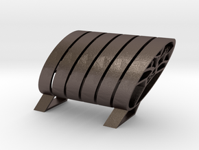 324get : modular holder for your belongings in Polished Bronzed Silver Steel