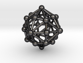 0399 Disdyakis Dodecahedron V&E (a=1cm) #003 in Polished Grey Steel