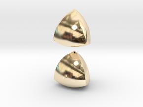 Meissner Tetrahedra in 14K Yellow Gold