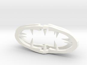 Lain's Hair Clip in White Processed Versatile Plastic