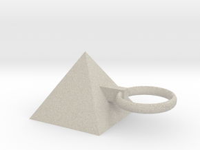 Pyramid King Keyring in Sandstone