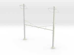 PRR CATENARY HO SCALE 4TRK CURVED STEADY 2 PH in White Natural Versatile Plastic