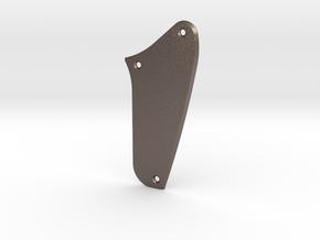 LH Jag Rhythm Circuit Control Plate - Blank Bevel in Polished Bronzed Silver Steel