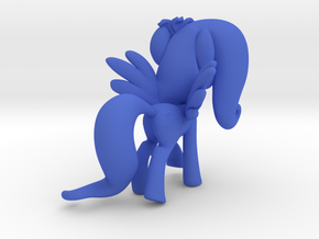 Fluttershy 1 Full Color - M3 in Blue Processed Versatile Plastic