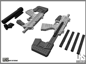 1/6 scale caseless smg Akimbo Package revised spru in White Strong & Flexible