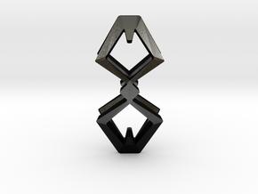 HEAD TO HEAD Duo, Pendant  in Matte Black Steel