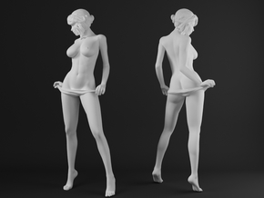 Panties girl 003 scale 1/20 Passed in White Strong & Flexible Polished