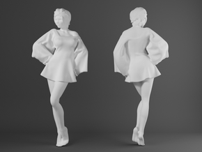 Skirt Girl-005-scale 1/32 in Smooth Fine Detail Plastic
