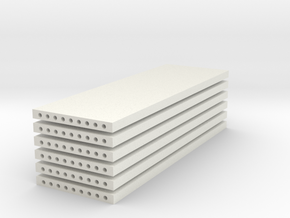 'N Scale' - (6) Precast Panel - 30'x10'x1' in White Strong & Flexible