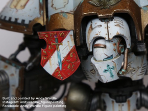 Grey Knights mask for Knight Titan in Frosted Ultra Detail