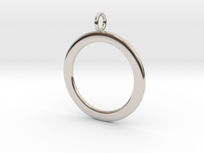 Ring-shaped pendant — smooth in Platinum