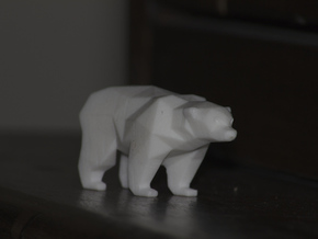 A Bear  - 5cm in White Strong & Flexible Polished