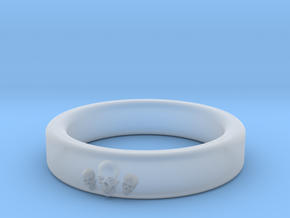 Smooth Anatomical Skull Ring in Smooth Fine Detail Plastic