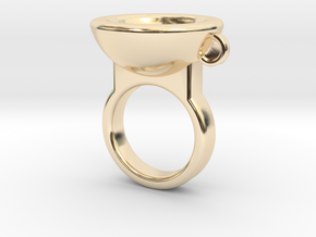 Coffe Cup Ring in 14K Yellow Gold