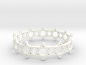 David Bracelet 78 in White Processed Versatile Plastic