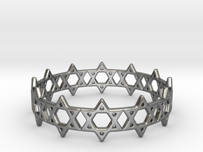 David Bracelet 80 in Fine Detail Polished Silver
