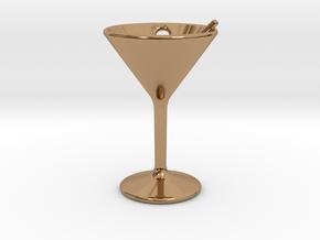 Martini Little Earring in Polished Brass