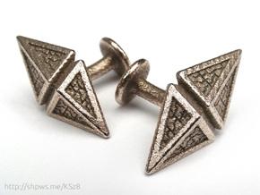 Zendikar Hedron Cufflinks in Stainless Steel