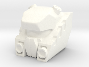 Autorooper Head for Combiner Wars Rook in White Processed Versatile Plastic