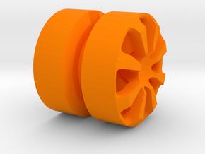 SPIDER_1814RS - LEGO-compatible Custom Rims in Orange Processed Versatile Plastic