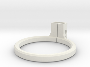 OD Fundus  - Lens Mount (Volk 20D) in White Natural Versatile Plastic