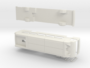 HO New Flyer Xcelsior CNG Bus (w/ interior) in White Natural Versatile Plastic