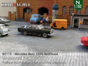 Mercedes-Benz 220S (N 1:160) in Frosted Ultra Detail