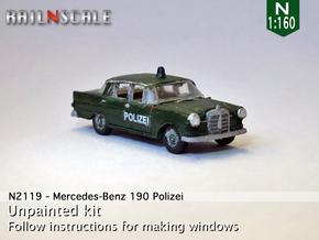 Mercedes-Benz 190 Polizei (N 1:160) in Frosted Ultra Detail