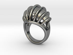 Ring New Way 17 - Italian Size 17 in Fine Detail Polished Silver