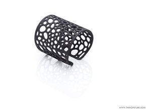 Voronoi bracelet (MEDIUM) in Black Natural Versatile Plastic