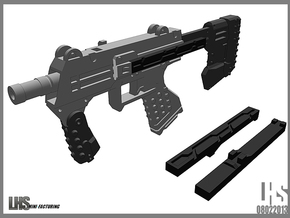 1/6 Scale Caseless SMG Revised in White Natural Versatile Plastic