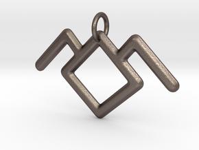 Twin Peaks Black Lodge Symbol Pendant in Polished Bronzed Silver Steel