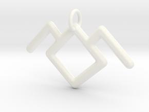 Twin Peaks Black Lodge Symbol Pendant in White Processed Versatile Plastic