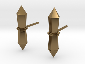 Tribalcelt-studs in Polished Bronze