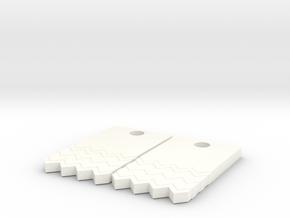 Black Lodge Earrings (Pair) in White Processed Versatile Plastic