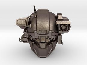 Halo 5 Argus/linda 1/6 scale helmet in Polished Bronzed Silver Steel