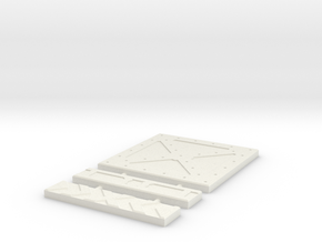 SciFi Tile 10 - Cross Plate in White Strong & Flexible