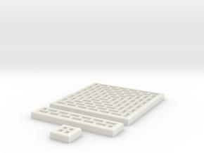 SciFi Tile 11 - Running Bond Walkway in White Natural Versatile Plastic