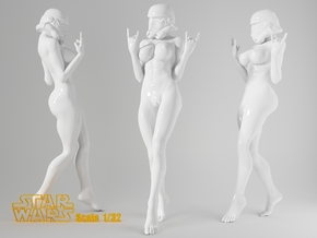 1:32 Star War sexy girl-003 in Frosted Ultra Detail